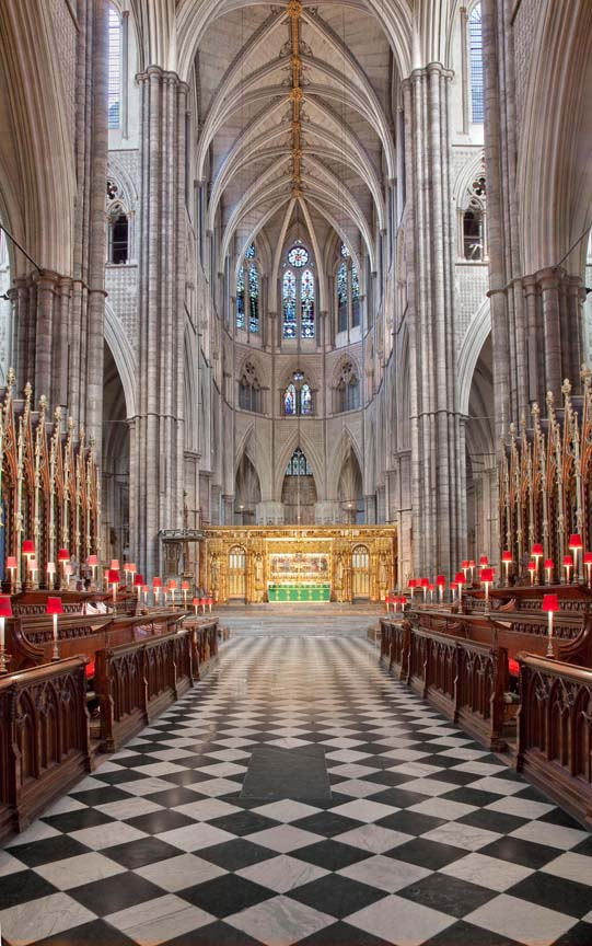 Westminster Abbey. Choir and apse looking east