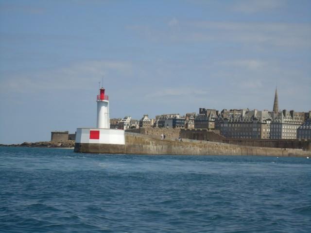 Saint-Malo vu de la mer