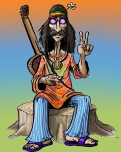 hippie-caricature