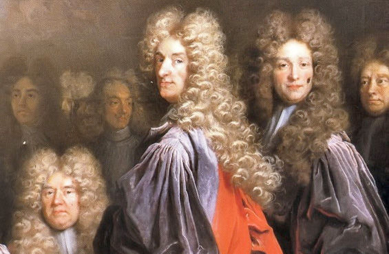 Powdered wigs in the seventeenth century