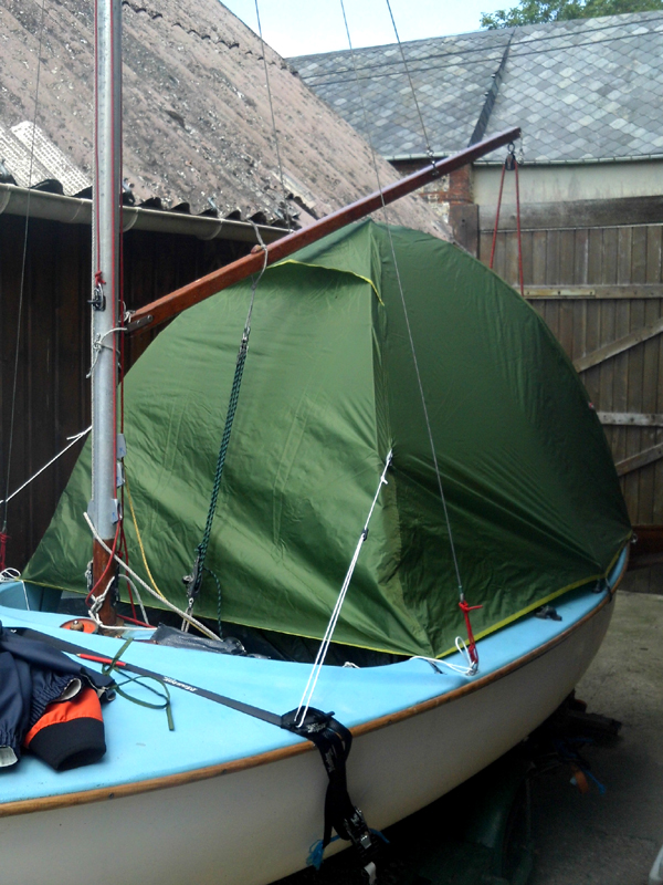 The tent is no longer supported by the boom but by its own structure as on land. I have made no modifications to the tent so the conditions should be drier ... & New Boat Tent | New Goliards
