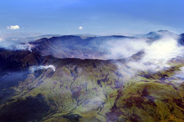 Mount Tambora in Indonesia